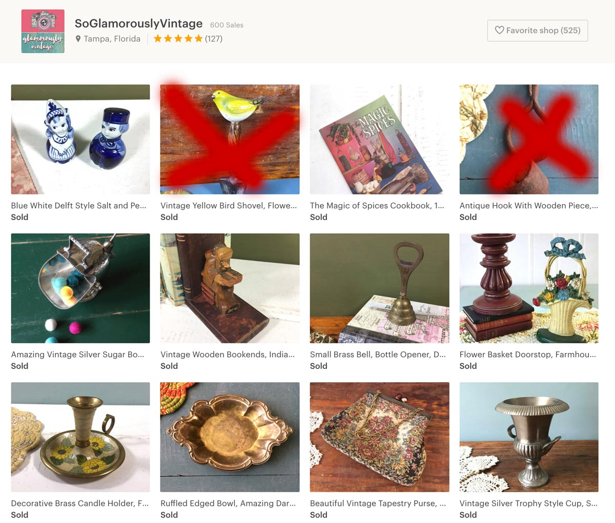 Recent Solds So Glamorously Vintage Etsy Shop