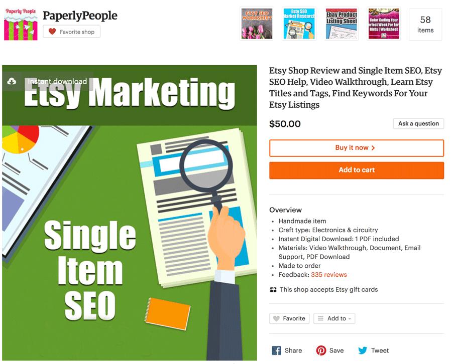 Single Item SEO Product