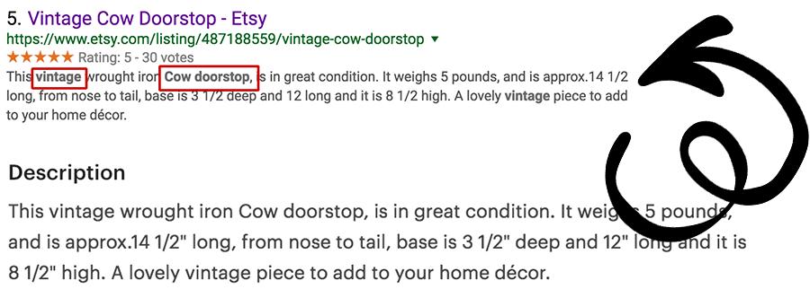 Vintage Cow Doorstop Descritption