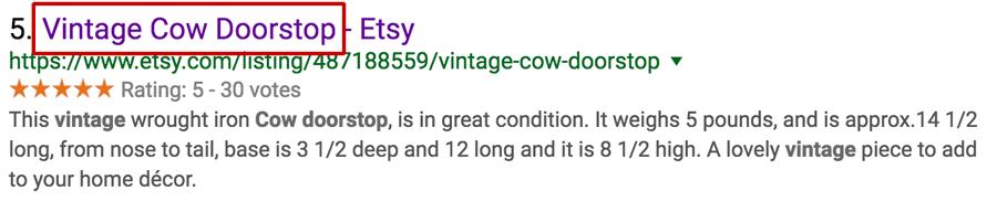 Vintage Cow Doorstop