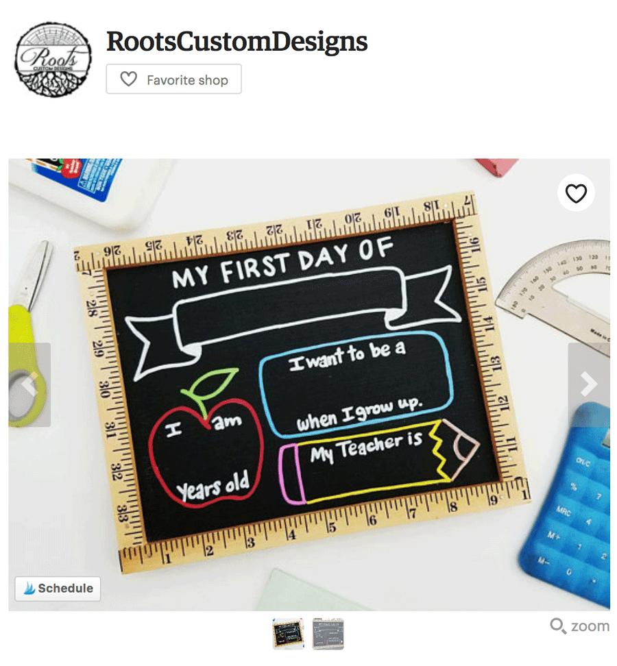 First Day of School Board - Back To School Marketing