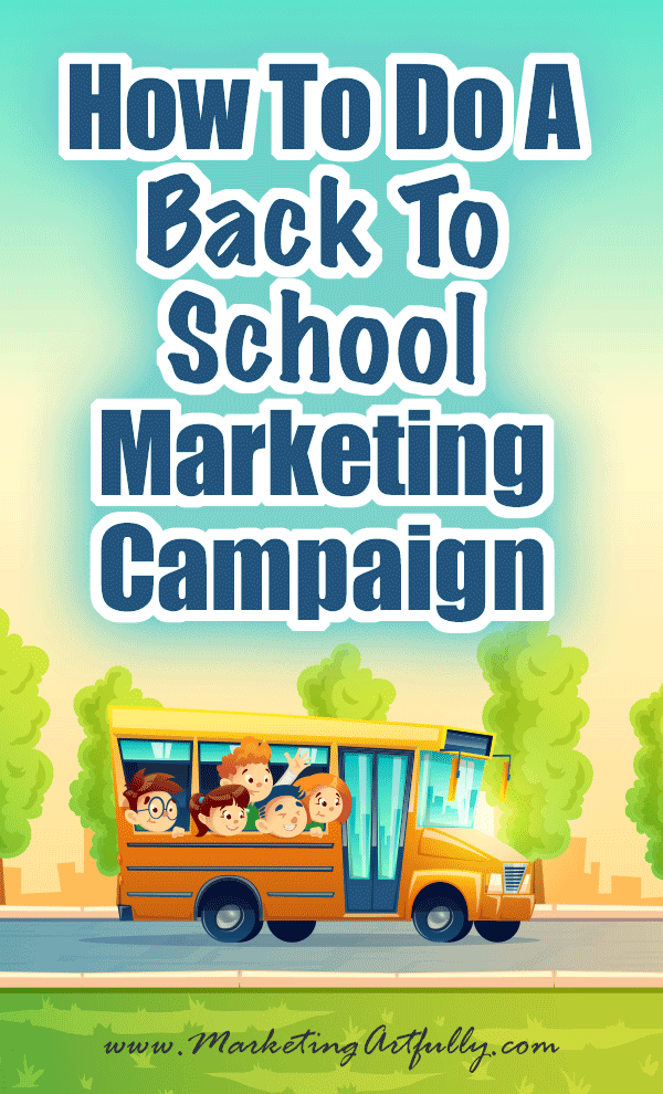 How To Do A Back To School Sale Marketing Campaign... Back to school is a shopping time! Make sure you are capitalizing on a great opportunity to get your marketing campaign up & running in time to make some sales. In my never ending quest to capitalize on the great marketing holidays throughout the year, today we are going to be talking about how to do a back to school marketing campaign. Tips and Ideas for your small business.