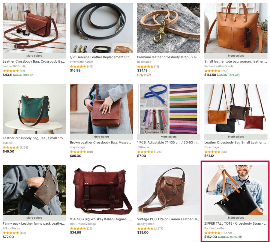 Crossbody Tote Search - Etsy SEO
