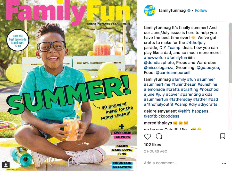Family Fun Mag Instagram Post