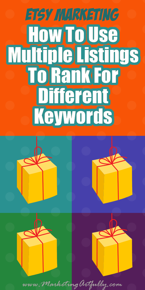 How To Use Multiple Listings To Rank For Different Etsy SEO Keywords... If you are a handmade, digital or supplies Etsy seller, you have such a unique opportunity to use multiple listings of the same product to rank for different keywords in your Etsy SEO and product photography... let me explain!