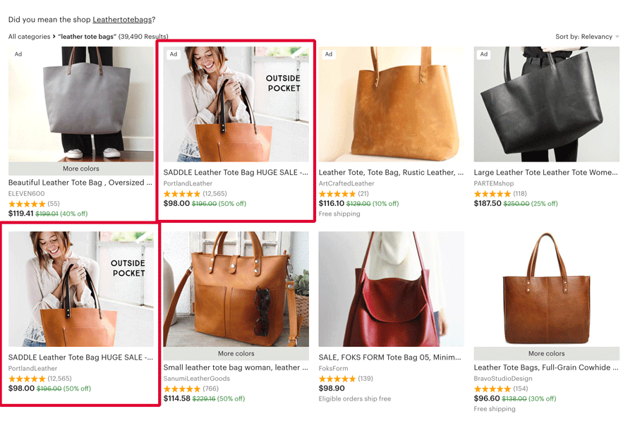 Leather Tote Bags - Etsy Search Results