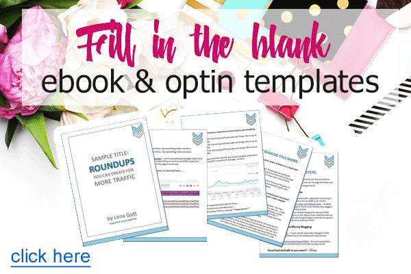 Fill In The Blank Ebook & Optin Templates
