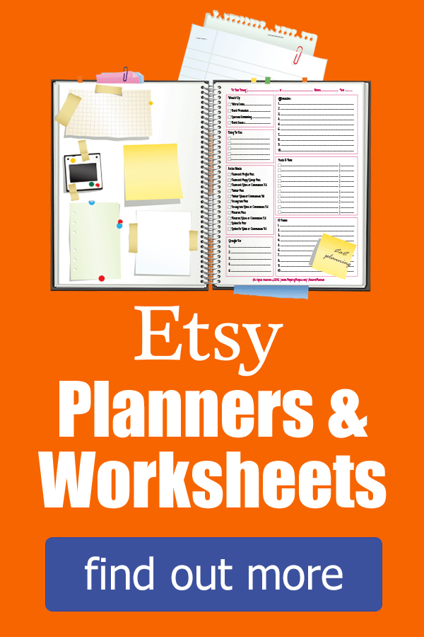Etsy Planners & Worksheets
