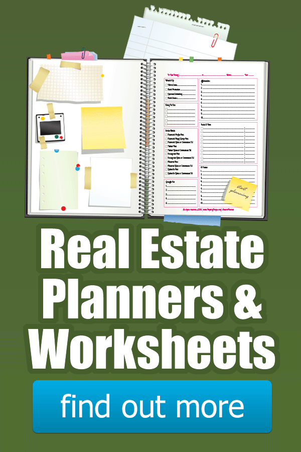 Realtor Planners & Worksheets