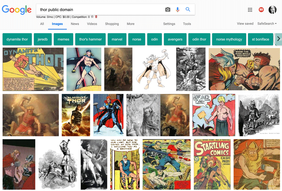 Thor Public Domain Search