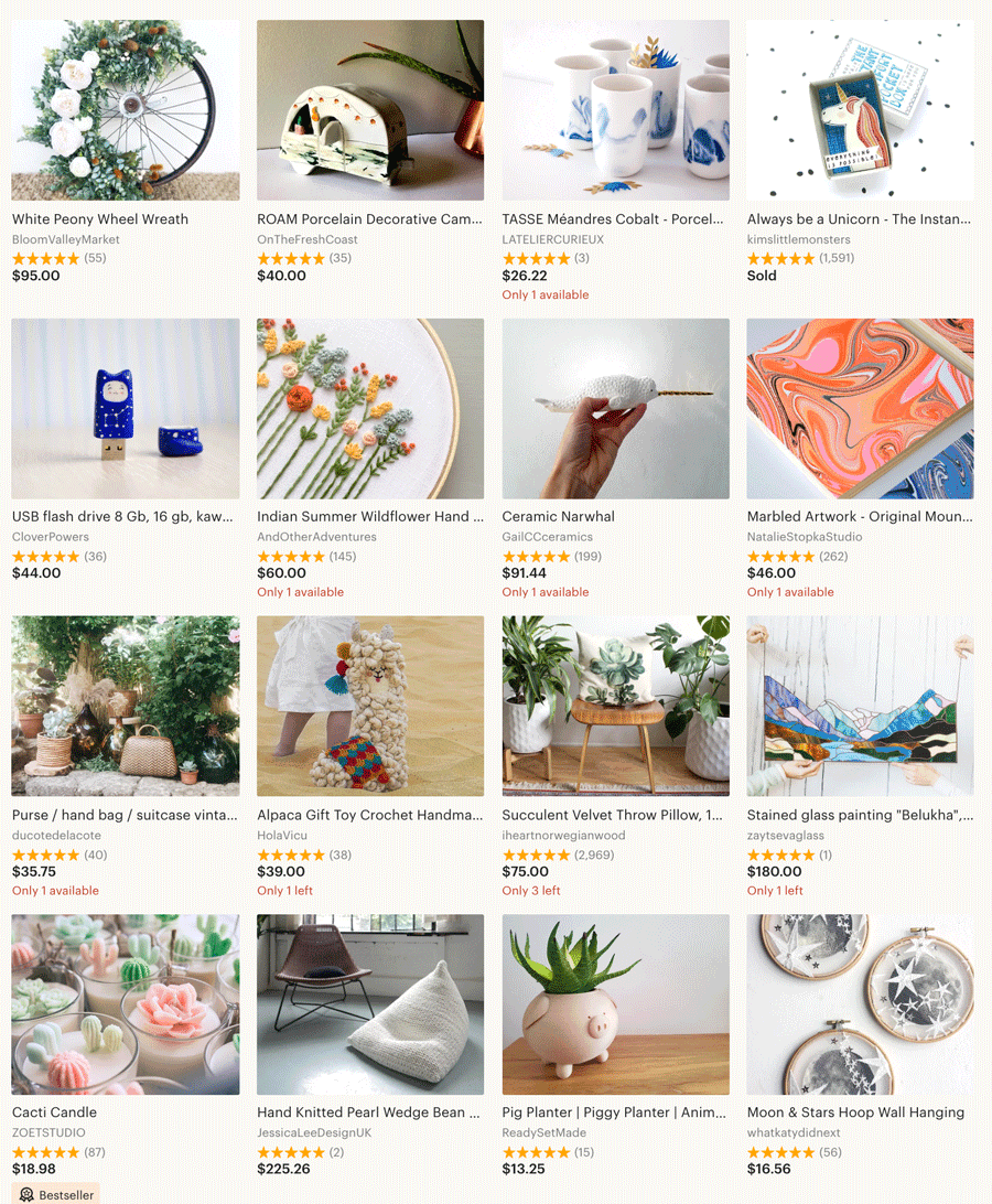 Etsy Instagram Popular Products