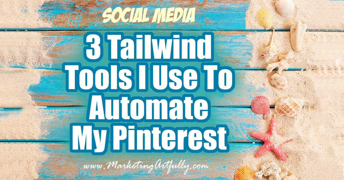 3 Tailwind Tools I Use To Automate My Pinterest... Doing social media is super time consuming and boring. Luckily Tailwind for Pinterest has our backs and has made a set of tools that help to automate the whole process with just a wee bit of work!
