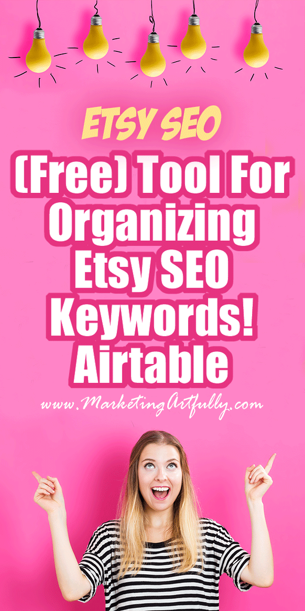 My Favorite (Free) Tool For Organizing My Etsy SEO Keywords! As an Etsy seller I do a lot of keyword research, but organizing all those Etsy SEO keywords and phrases was really getting me down. And then I found the most amazing free tool to use for keeping track of them! Here are my best tips and tricks for organizing my Etsy SEO Keywords!