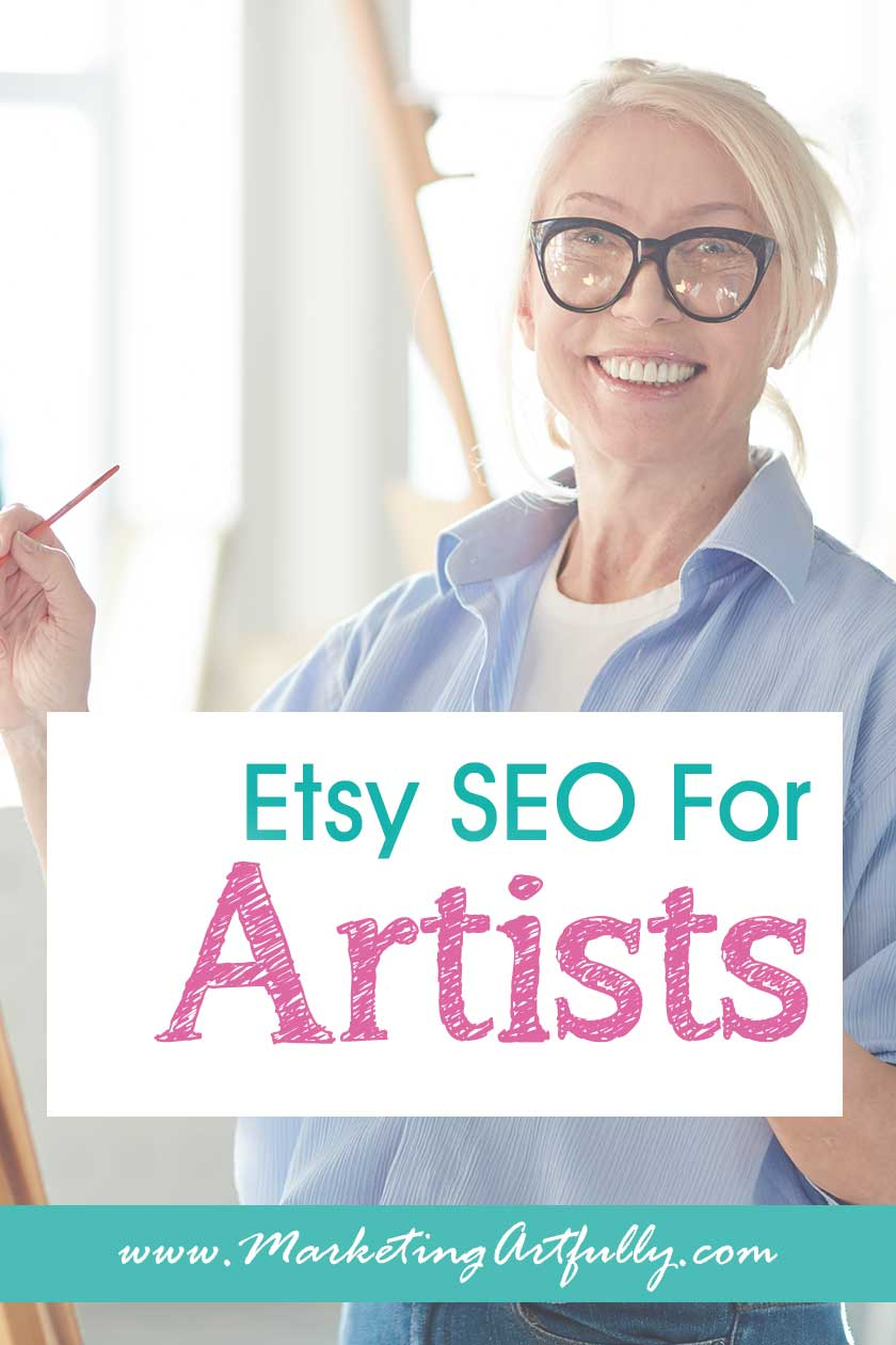Etsy SEO For Artists... Easy tips and ideas for doing your Etsy SEO for your art. If all you want to do is paint or draw or sculpt, not do computer work, this post will help you learn to do your listings fast! Great for helping Etsy shop owners who are artists or creative types sell their artwork.
