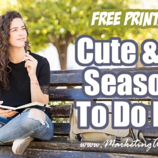 Free Printables Cute and Fun Seasonal To Do Lists