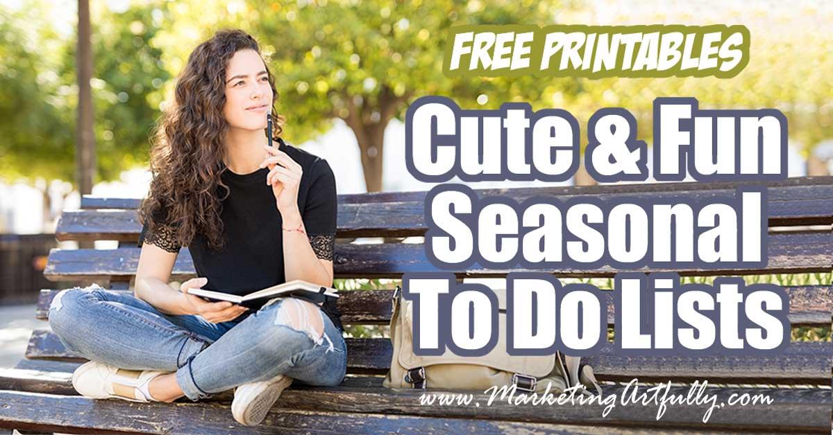 Free Printables Cute and Fun Seasonal To Do Lists