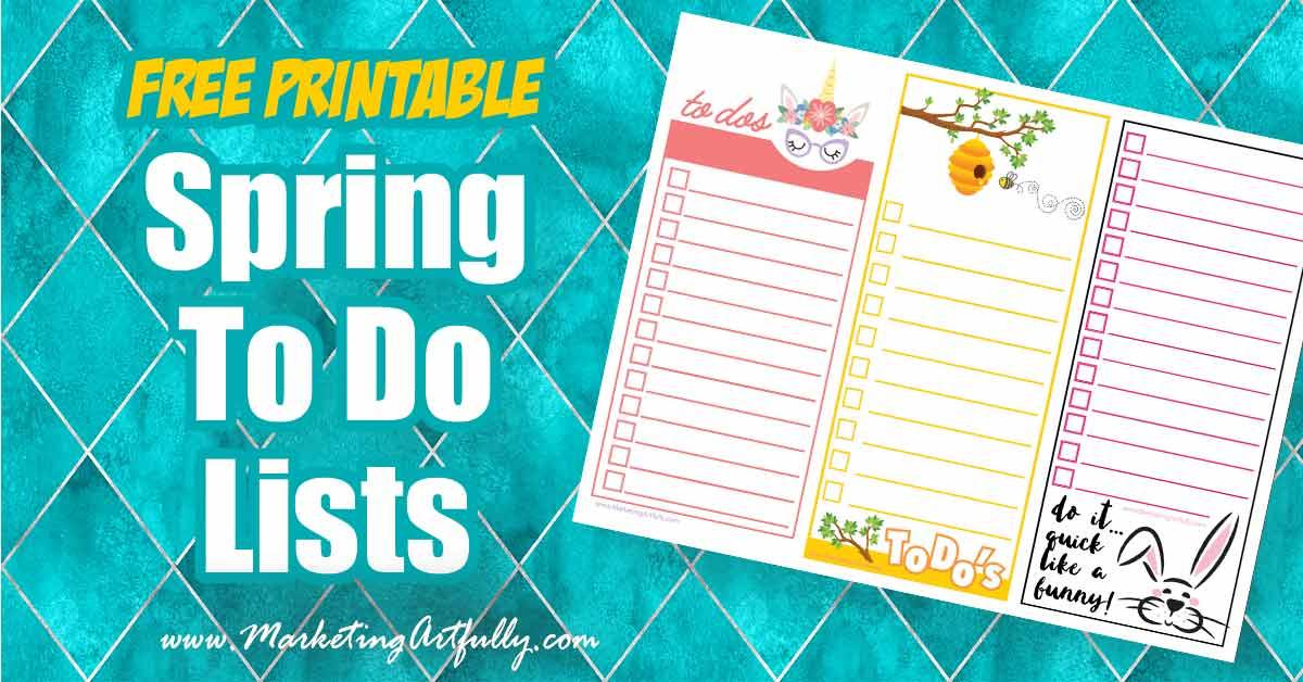 Free Printable - Spring To Do List