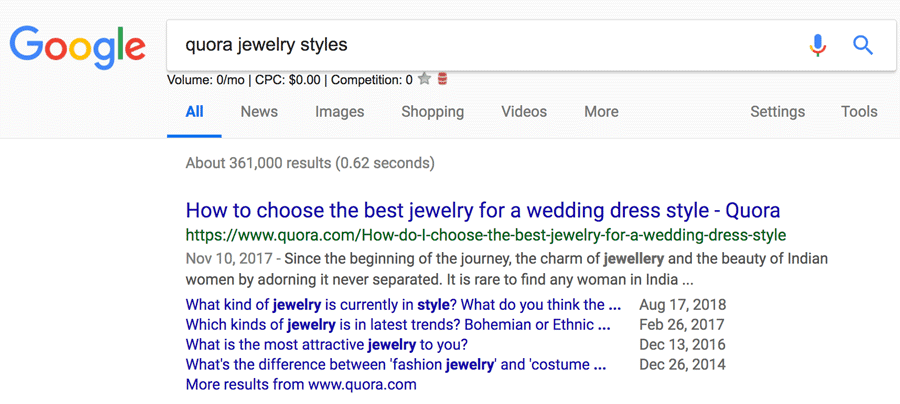 Jewelry Quora Search