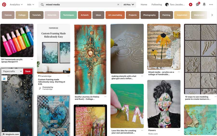 Mixed Media Search On Pinterest