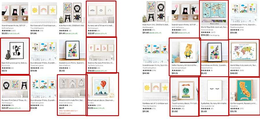 Etsy SEO Artwork Plural Keywords Search