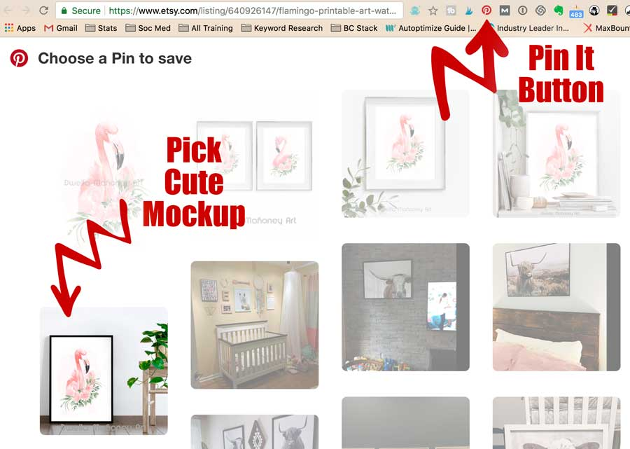 Pinning Your Mockup On Pinterest
