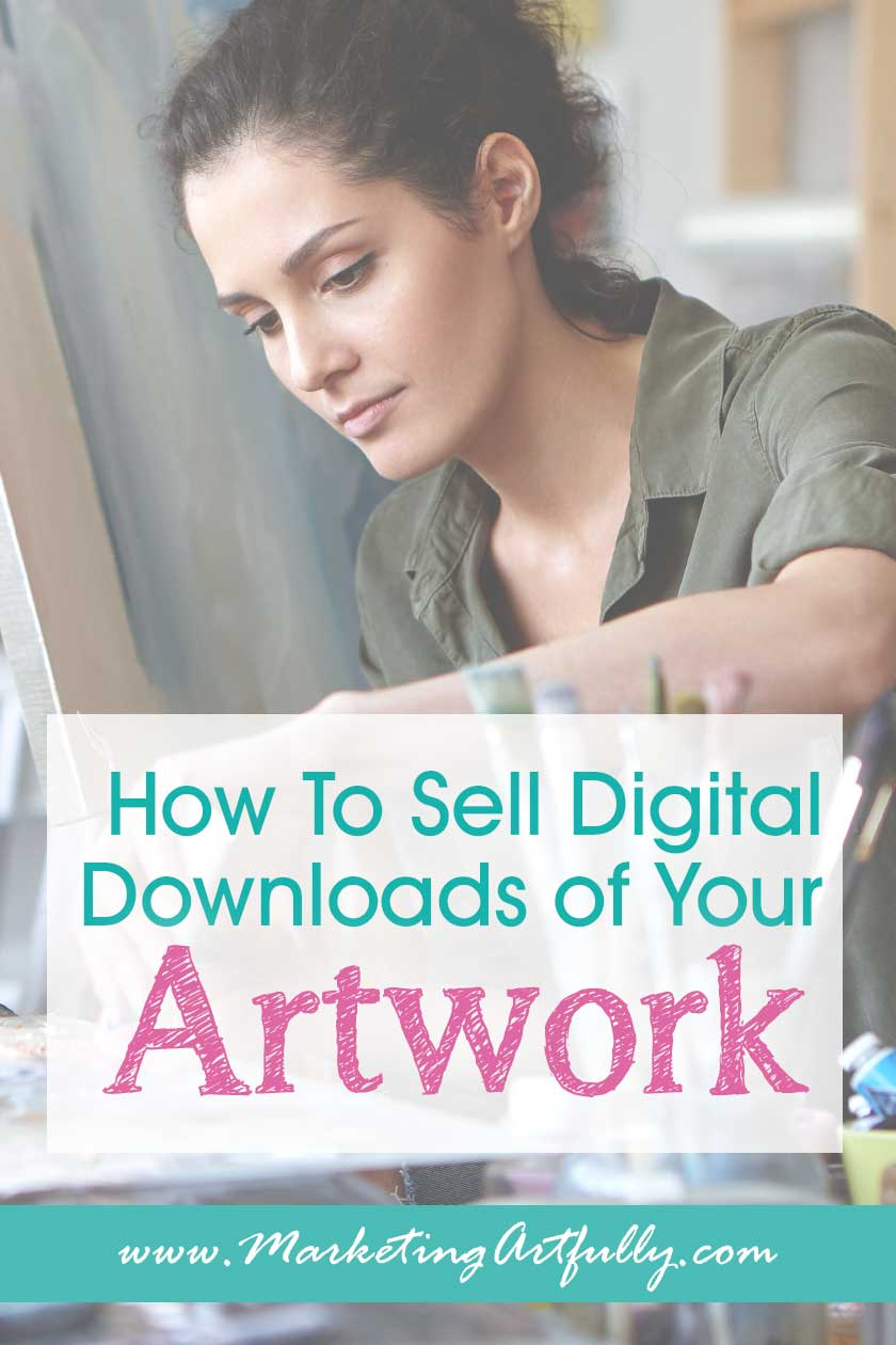 How To Sell Digital Downloads of Your Artwork, Part 1 - Getting Started... I have had some questions lately from artists who want to start selling their artwork as digital printables on the internet to make some passive income. Here is a overview of what is involved in selling digital downloads of your artwork.