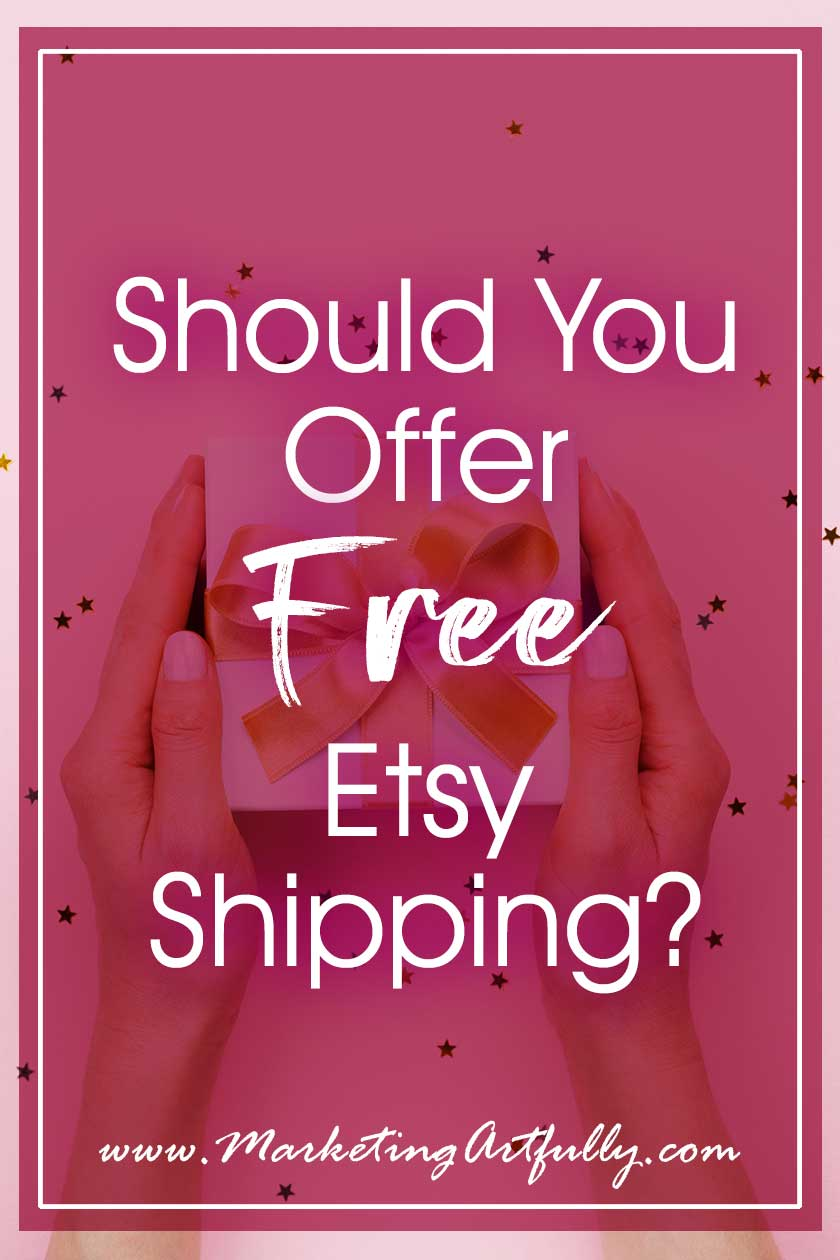 Should You Offer Free Etsy Shipping? Etsy recently announced that shops that offer free or reduced shipping would receive a bonus in SEO search. So what does that mean to the average Etsy seller? For handmade, vintage and supplies. #etsyshop #etsyseller
