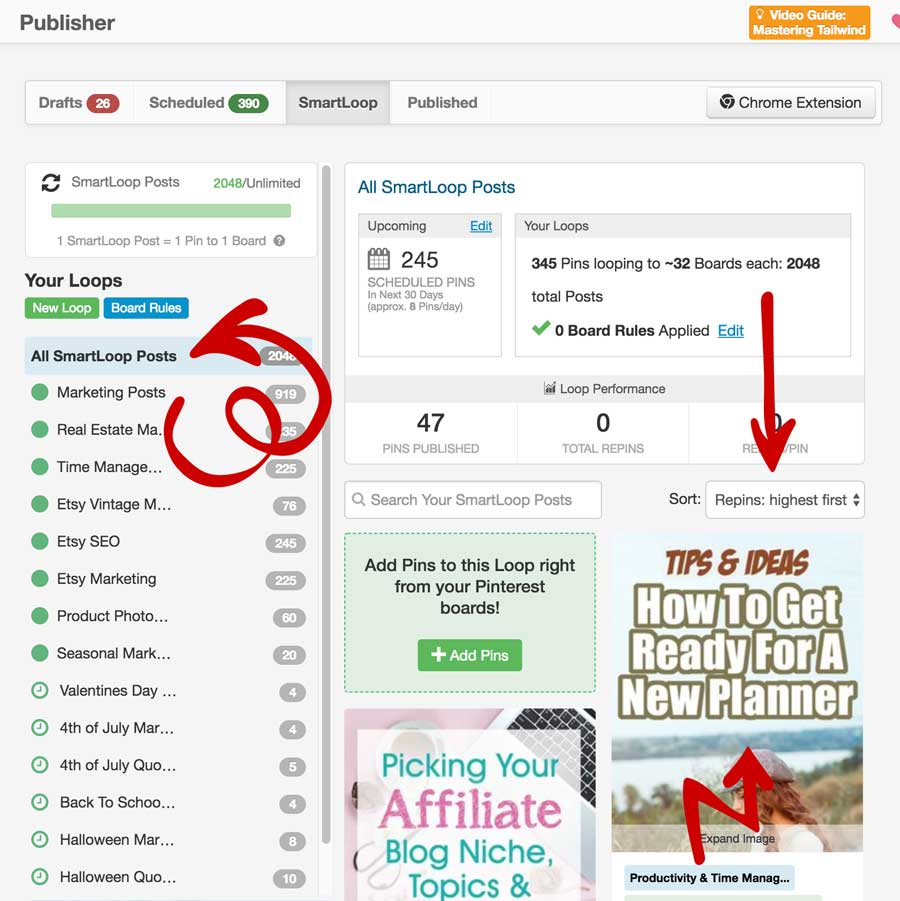 Looping - Autoposting To Pinterest
