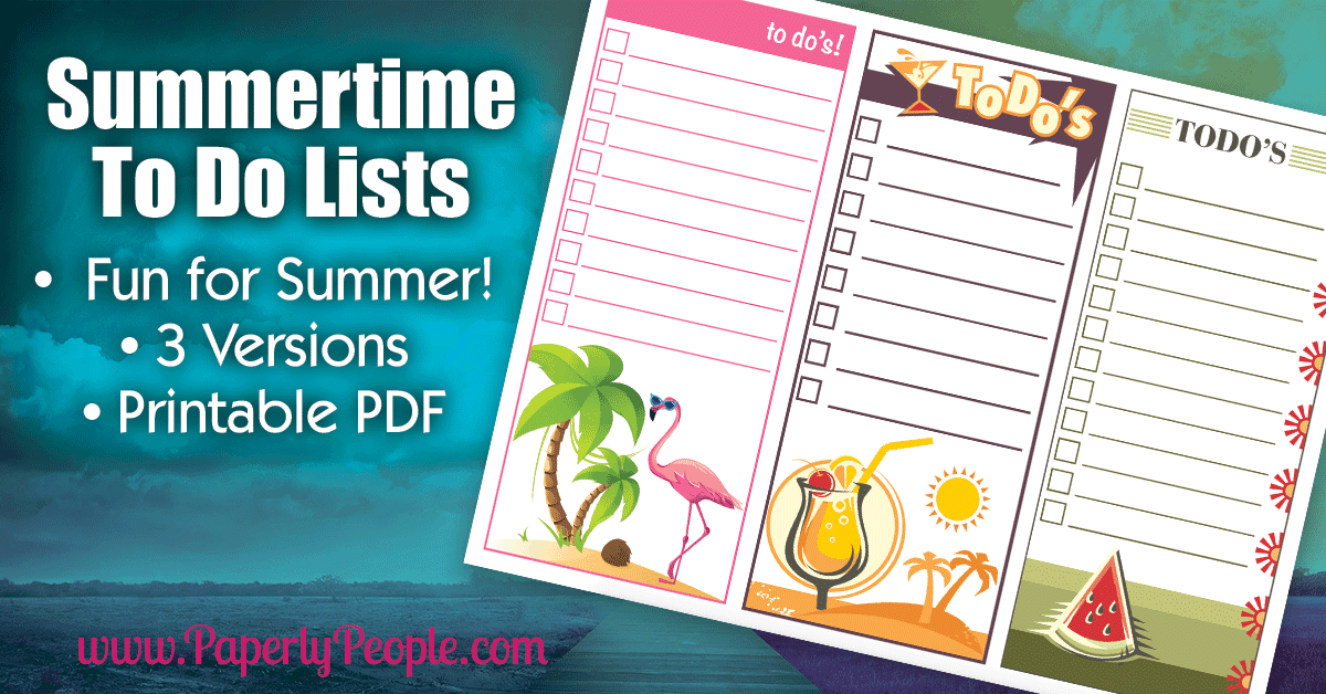 Free Printable Summertime To Do List