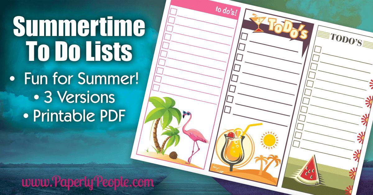 Free Printable Summertime To Do List