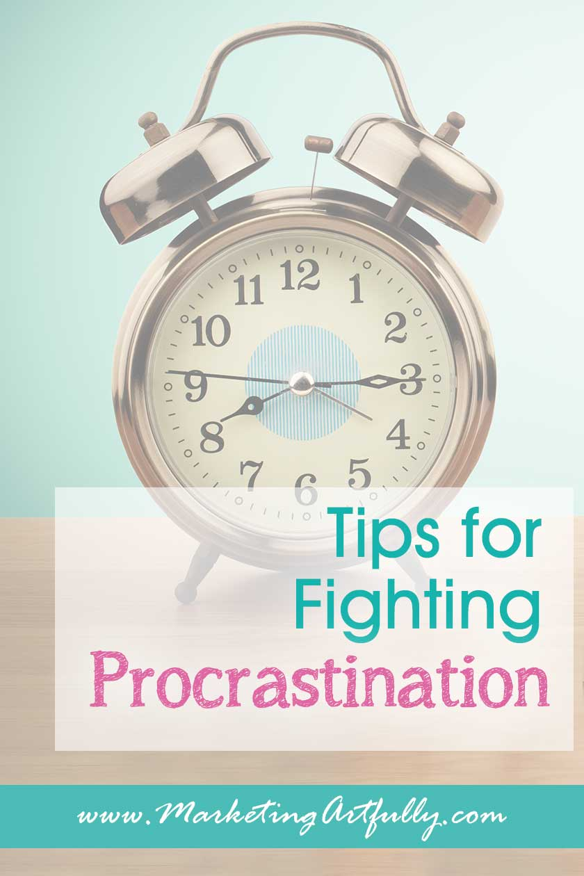 Tips for Fighting Procrastination! Time Management For Business Owners... As small business owners we often obsess about time management, but honestly sometimes it is just procrastination rearing its ugly head. Today's personal development post is about how to get motivated and stop procrastinating.  #timemanagement #procrastination