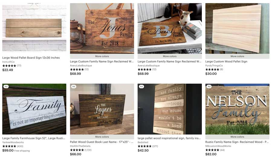 Wood Pallet Sign Etsy Search