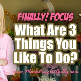 "What Are 3 Things You Like To Do? - Finally Focus for Creative Entrepreneurs.... Today we are going to talk about the 3 things you personally like to do! As creative entrepreneurs we can get ""shiny object syndrome"" and try to do too many things all at once. By focusing on YOUR greatest strengths focusing becomes even easier!"
