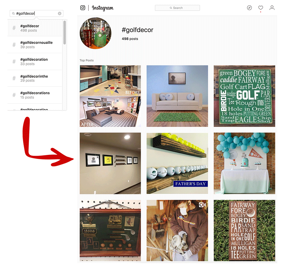 Instagram Golf Decor
