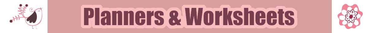 Planners & Worksheet