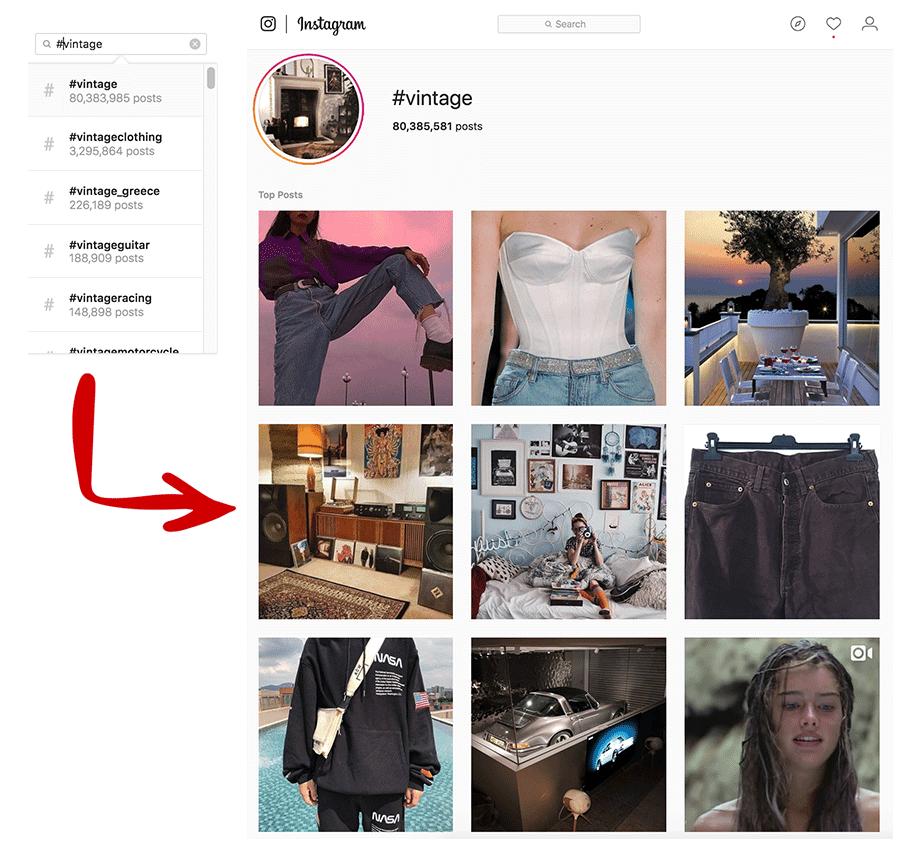 Vintage Instagram Search
