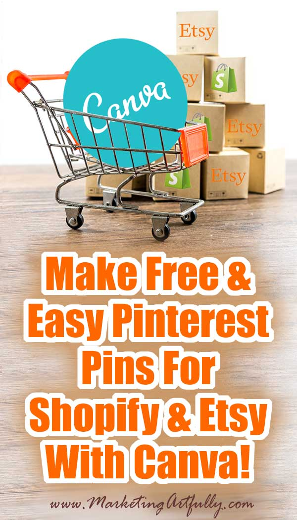 Canva Tutorial To Make Free and Easy Pinterest Pins For Shopify and Etsy (Includes Printable Checklist)... How to make cool Pinterest pins that get shared for free using the photo tool Canva, your product pictures and a little creativity. This Canva tutorial includes my best tips and ideas for making easy Pinnable images that actually help sell more on your Ecommerce shop. Includes a free printable checklist!