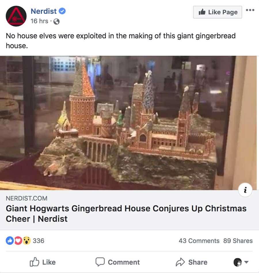 Gingerbread House - Hogwarts - Christmas Marketing