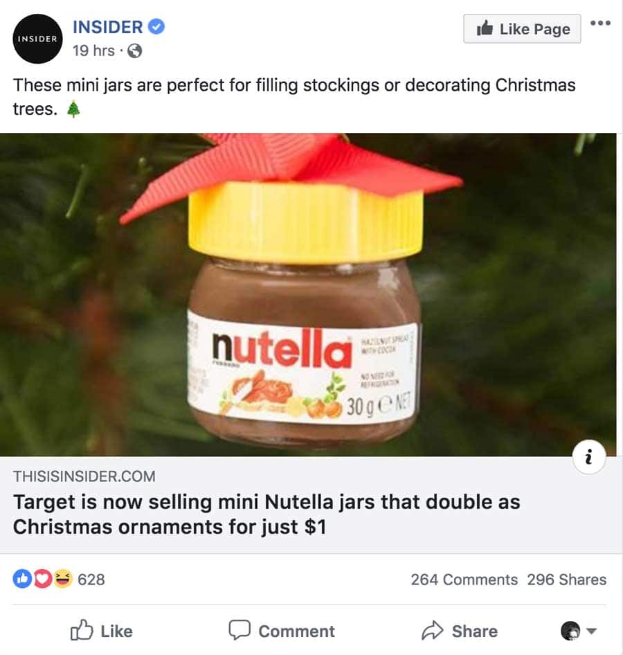 Nutella Christmas Ornament Post