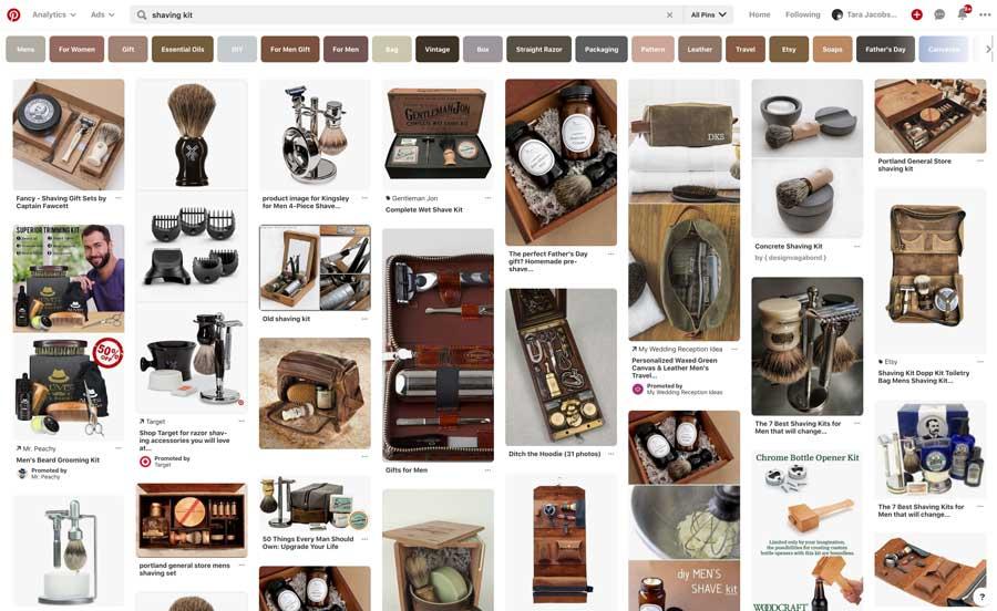Pinterest Search Shaving Kit