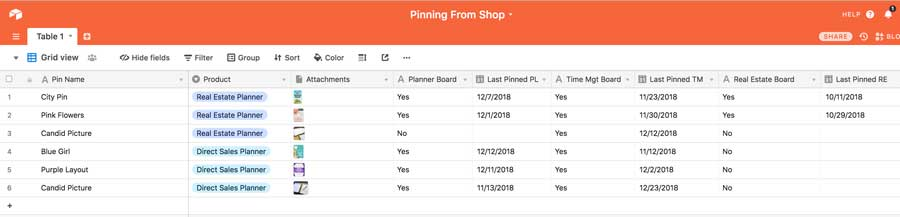 Airtable - Manually Scheduling Your Etsy Product Pins