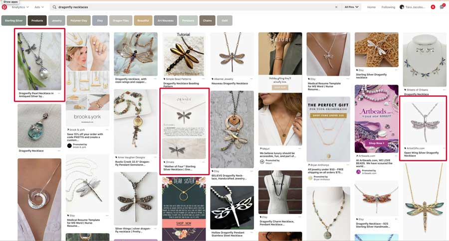 Search For Dragonfly Pinterest Pins... What Do They Visually Look Like?