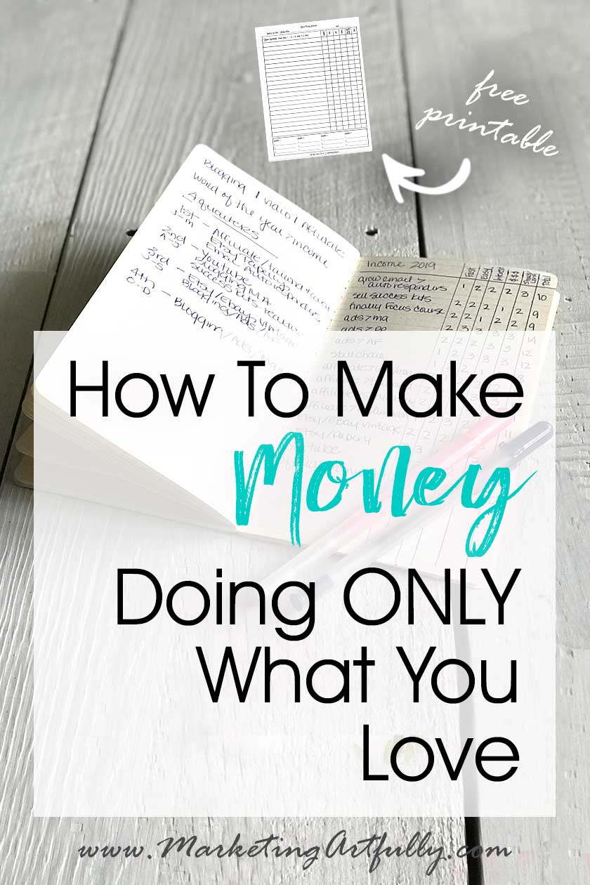How To Make Money Doing Only What You Love… I use this worksheet to rank ways to make money in my business looking at criterial like whether it is fast, easy, if I know how to do it or if I love it. Includes my best tips and ideas for using this free printable download.
