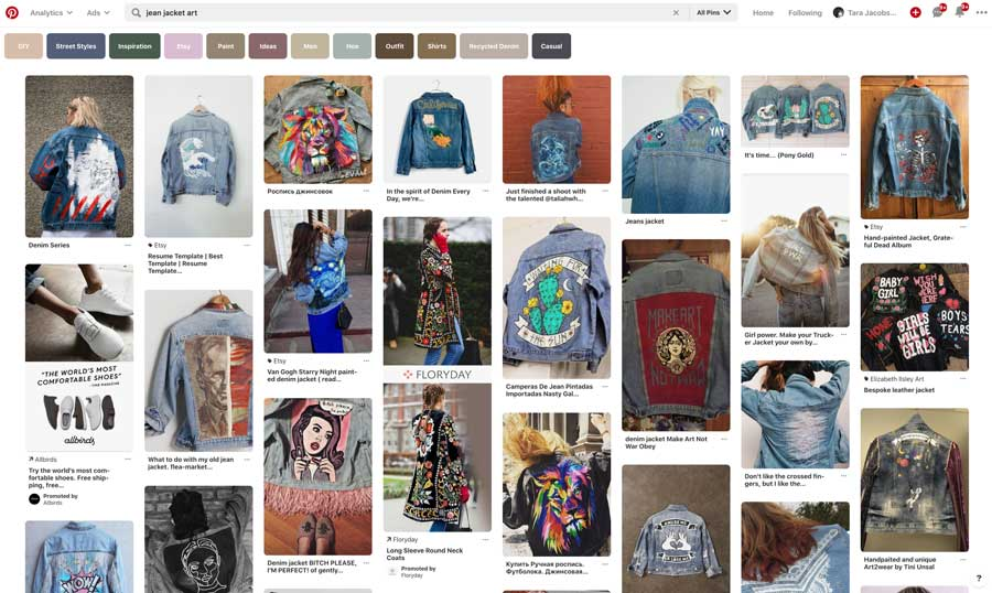 Jean Jacket Art Search On Pinterest
