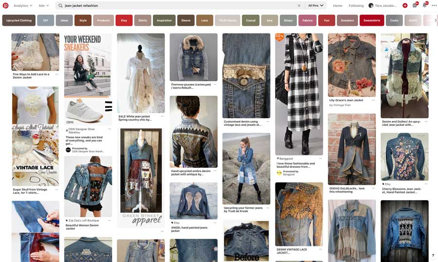 Jean Jacket Refashion Pinterest Search