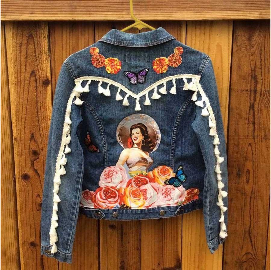 Mexican Jean Jacket from OrquidiasCreations