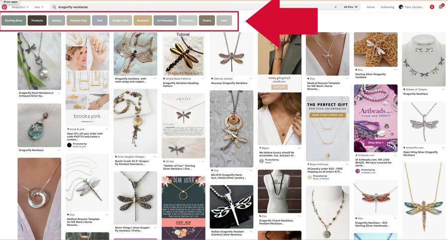 Keyword Search For Etsy Sellers on Pinterest