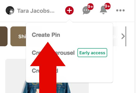 Select Create Pin
