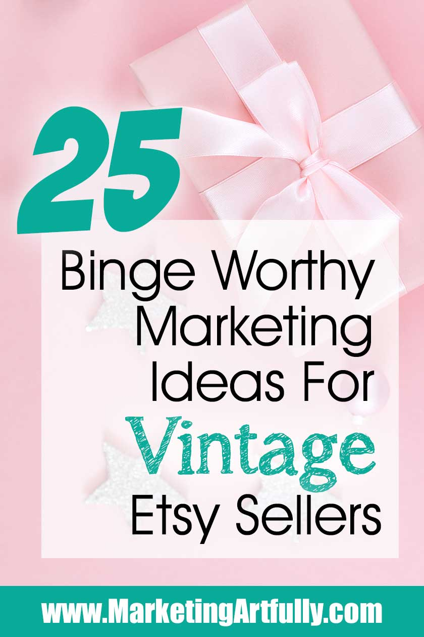 "As Etsy sellers we are all looking for great Etsy shop ideas for our products and to help us make money. Since I had so many great tips and ideas for vintage Etsy sellers, I thought I would make a big, binge worthy ""how to"" marketing guide to get them in one handy dandy place!"