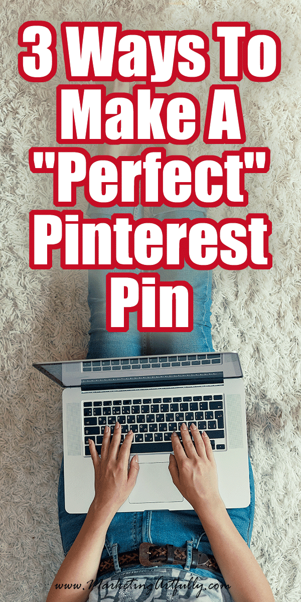 """3 Ways To Make A """"Perfect"""" Pinterest Pin ... Tips and ideas for how to create the best Pinterest marketing strategy! My top 3 ways for figuring out what Pinterest thinks would be a perfect pin for bloggers, etsy sellers and small business owners. Tutorials for how to grow your Pinterest with or without a blog. #pinterest #marketing"""